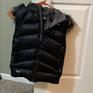 North Face vest with hood